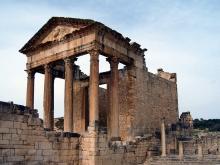 Vista del templo Capitolino