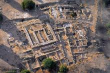 Vista cenital de la excavación