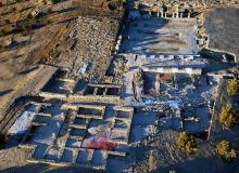 Vista aérea del conjunto romano
